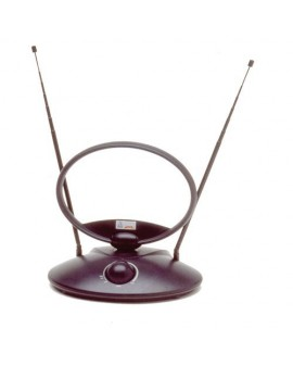 Antena de interior oval con amplificador