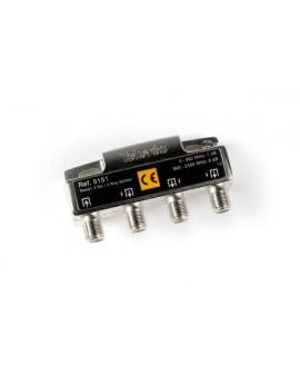 Repartidor de 3 salidas, conector F 2400MHz
