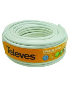 Cable Coaxial PVC Ø 6,6 mm Blanco 20 m