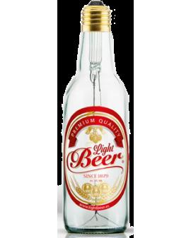 Bombilla LED Light Beer Transparente con Etiqueta