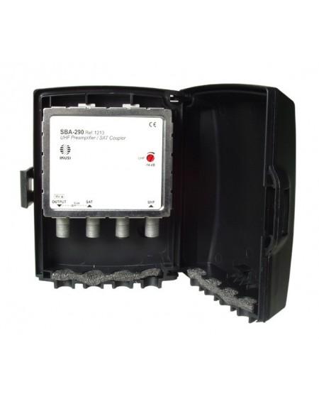 Amplificador de Mastil 2e, 1s, UHF-SAT F