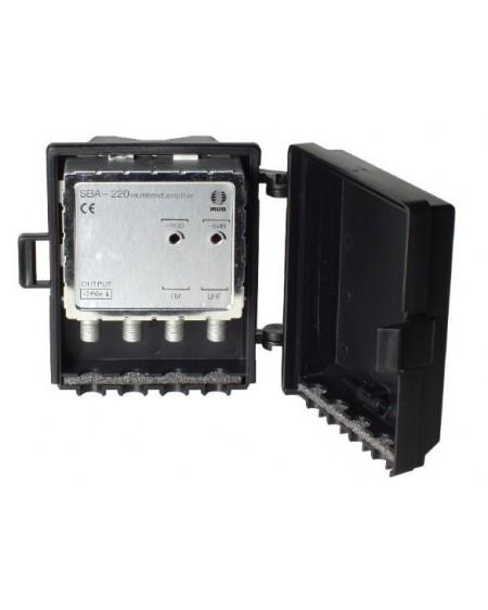 Amplificador de Mastil 2e, 1s, FM-UHF.
