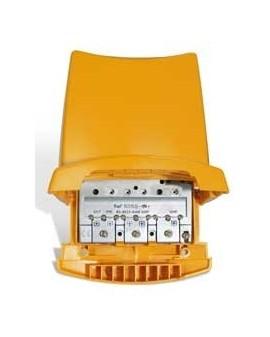 Amplificador de Mastil 4e, 1s, BI/BIII-FM-UHF-UHF. Easy F